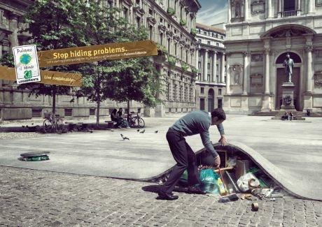 Campaña de concientización de Legambiente, asociación italiana