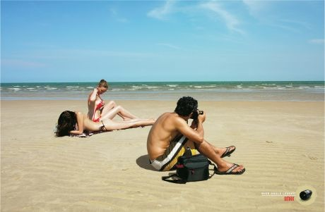 Si usas los zom Omax ... no, por más Omax que uses, no podes ser tan pelotudo de sacar fotos al mar, teniendo al lado eso ...jajaja
