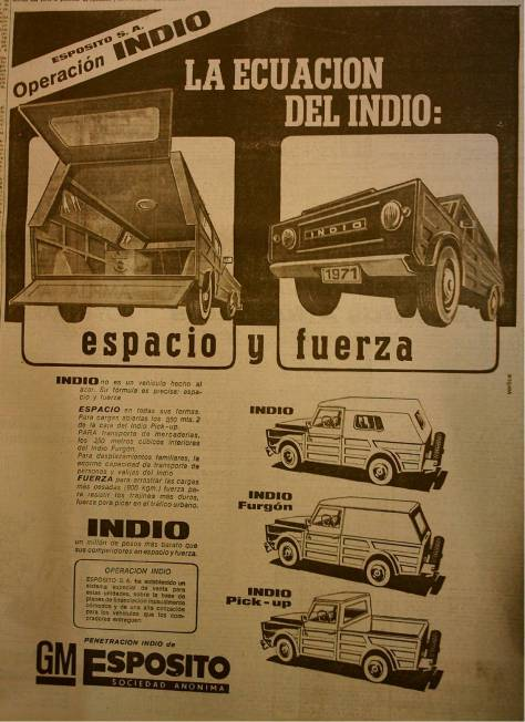 ¿Se acuerdan de la INDIO?, aviso del '71