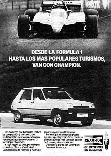 Las Bujías Champion, en los 80