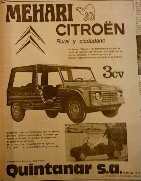 Aviso de la Meahri, año 1971