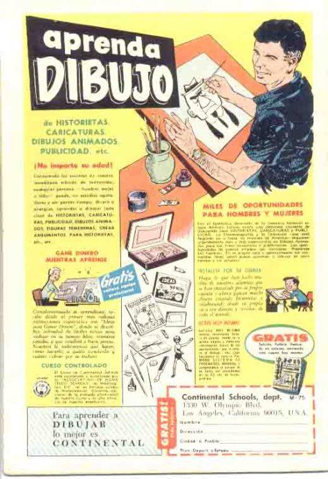 Se acuerdan?, en las revistas venian estos avisos, para que uno aprendiera dibujo y muchas cosas ... por correo< hasta ser Detective
