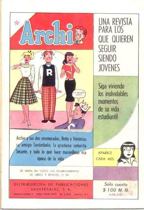 Promocion de un proximo numero de la genial Archie