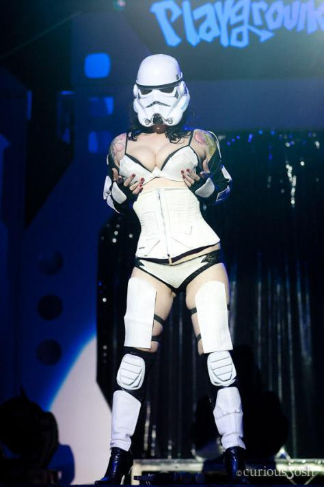 Courtney Cruz as the Stormtrooper
