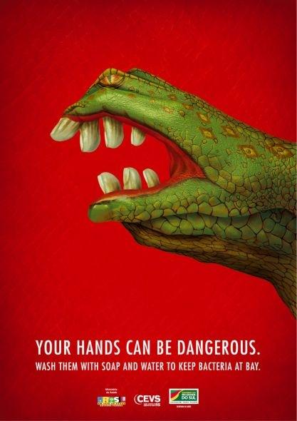 Tus manos pueden ser peligrosas.