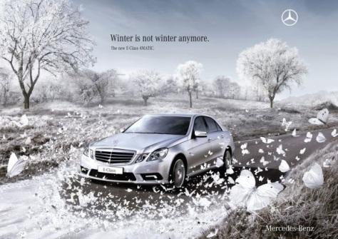 Con este Mercedes el invierno ya no es más invierno