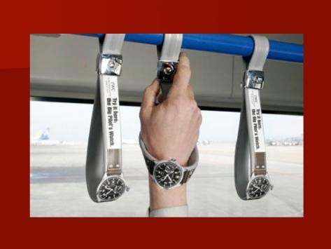 Buena idea para publicitar relojes en el bus