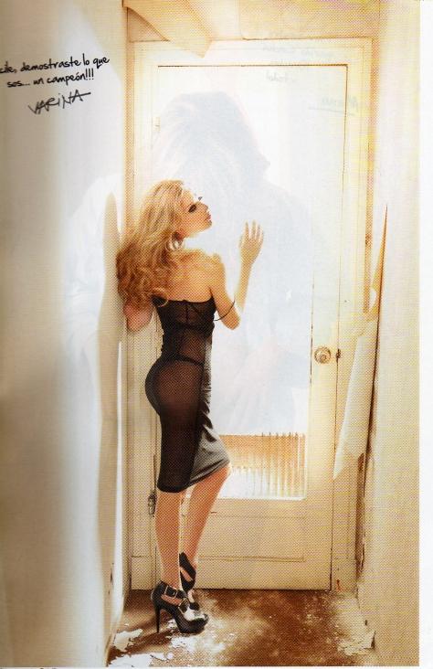"""Varina De Cesare (para algunos la Brigitte Bardot uruguaya, y que pronto volveremos a ver por canal 10 en , le dedicó a Fucile, """"demostraste lo que sos... un campeón"""""""