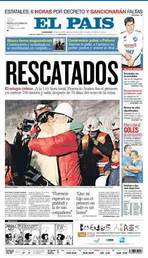 La tapa de El País, de Uruguay, es considerada por el Newseum como una de las 10 mejores del mundo.