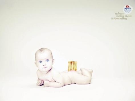 Alpika. Cuando la piel del bebé está ardiente