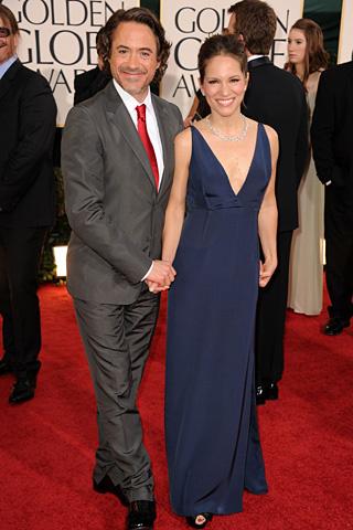 Robert Downey Jr, otro amigaso, con su mujer