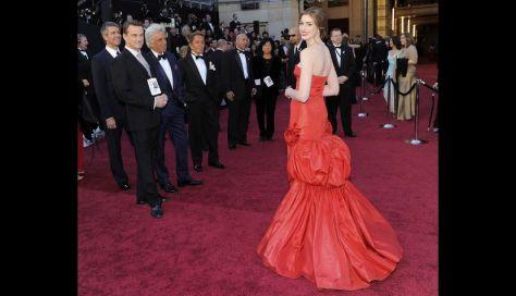 rimer vestido, con el que se paseó por la alfombra roja antes de la gala.