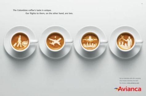Avianca, en Brasil. El sabor del café colombiano es único. Nuestros vuelos para allá, por el contrario, son dos.