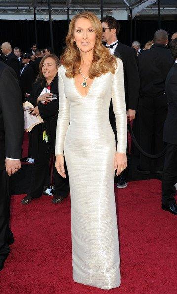 Celine Dion con este vestido Armani Privé
