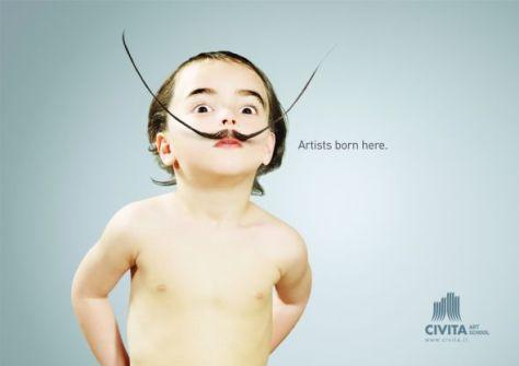 Civita Art School: Baby Dali. Los artistas nacen acá.