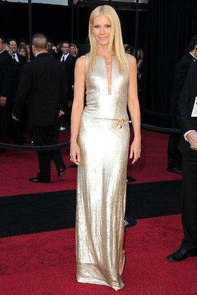 Gwyneth Paltrow acudió a la Gala enfundada en un sencillo diseño de Calvin Klein