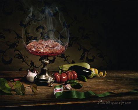 Knorr. Briskets en salsa de vino tinto