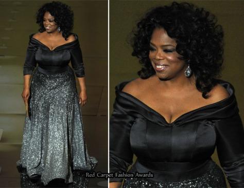 Oprah Winfrey en un Zac Posen