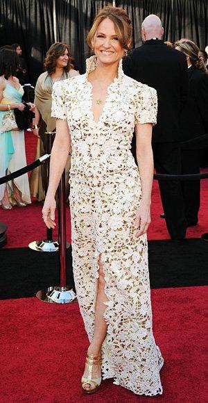 Melissa Leo no se que se puso, pero parece una cortina de mi abuela