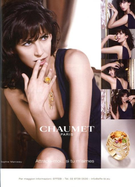 Sophie Marceau (quien no ha estado enamorado de esta francesa que no le pasan los años?), para Chaumet