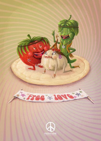 Pizza & Love (Barcelona), Tomate. Amor libre, hacemos pizza, no la guerra