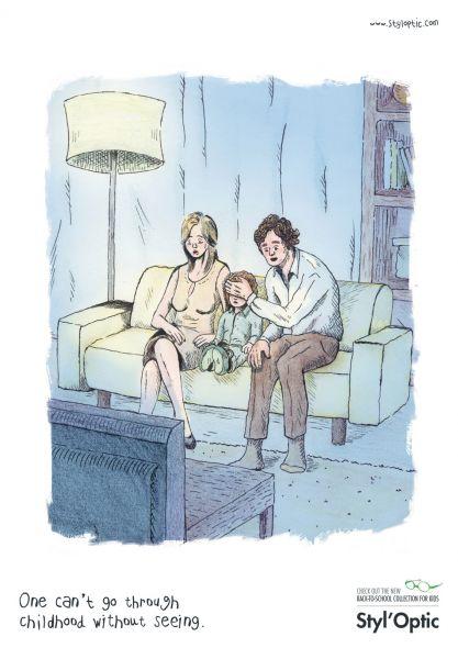 Styl'Optic: Uno no puede ir a través de la infancia sin ver. Aviso de una óptica de Francia