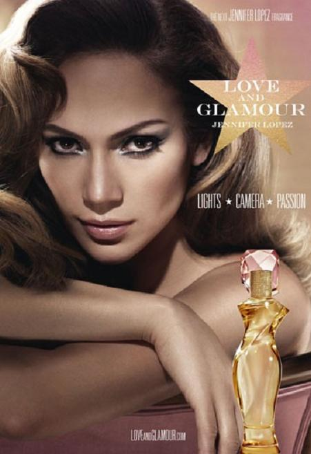 Jennifer Lopez y su propio perfume, Love and Glamour