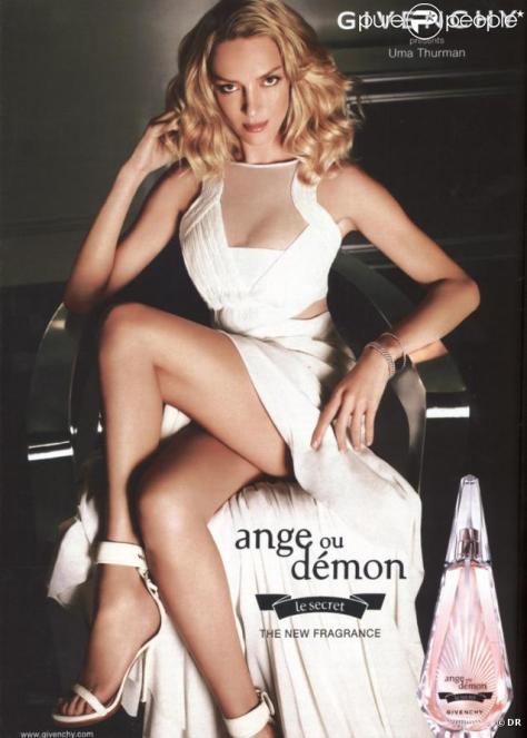 Uma Thurman para Givenchy, ange au démon