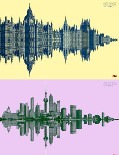 London Non Stop y Shangai Non Stop. Auriculares 3M cancelan el ruido