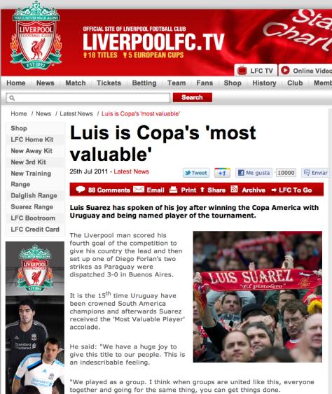 portal del club Liverpool de Inglaterra