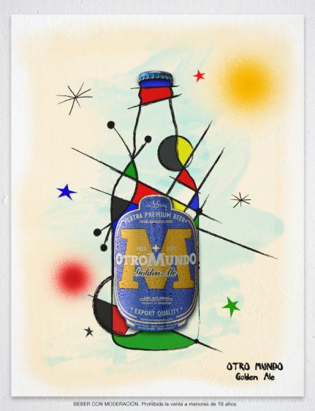 Art serie de la cerveza Otro Mundo. Miro