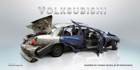 Seguridad Vial Hawkes Bay: Volksubishi. Disponible para los conductores descuidados, en todas las intersecciones